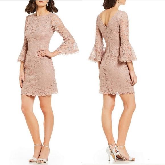 c33465175b54 Jessica Howard Dresses   Illusion Neckline Bell Sleeve Dress   Poshmark